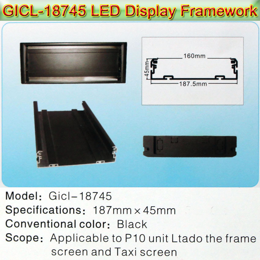 Gicl-18745 LED Display LED Sign Frame, P5/P10 Led Panel,Dedicated To Bus, Taxi, Car Etc Automotive Display Screen