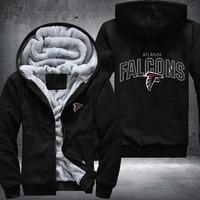 2018Atlanta Falcons Prin USA Size Jacket Costume Unisex Men Women Sweatshirts Winter Thicken Fleece Hoodies Sports Zipper Coats