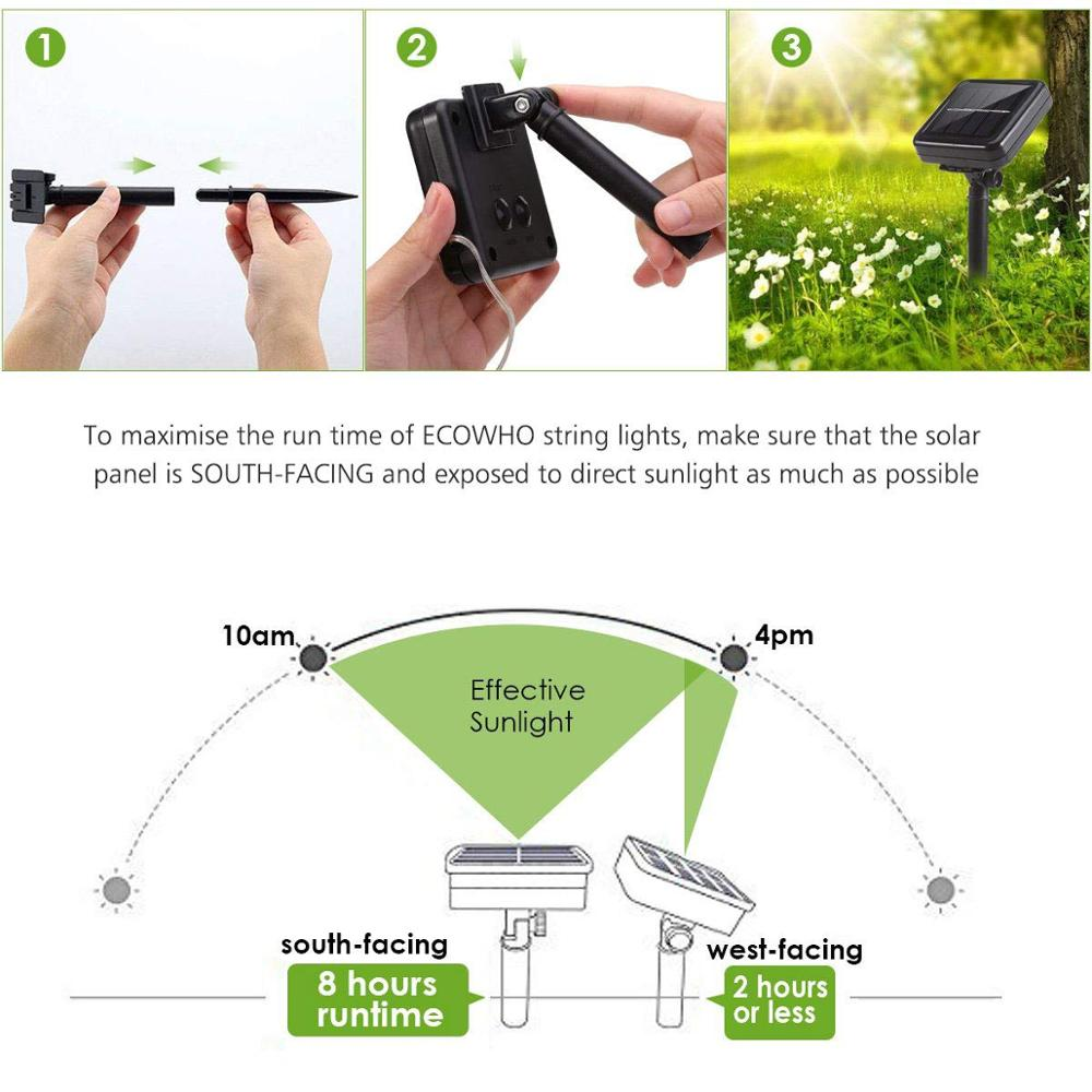 LED Solar Lamp Outdoor 7M 12M 22M LEDs String Lights Fairy Holiday Christmas Party Garland Solar Garden Waterproof Lights 3