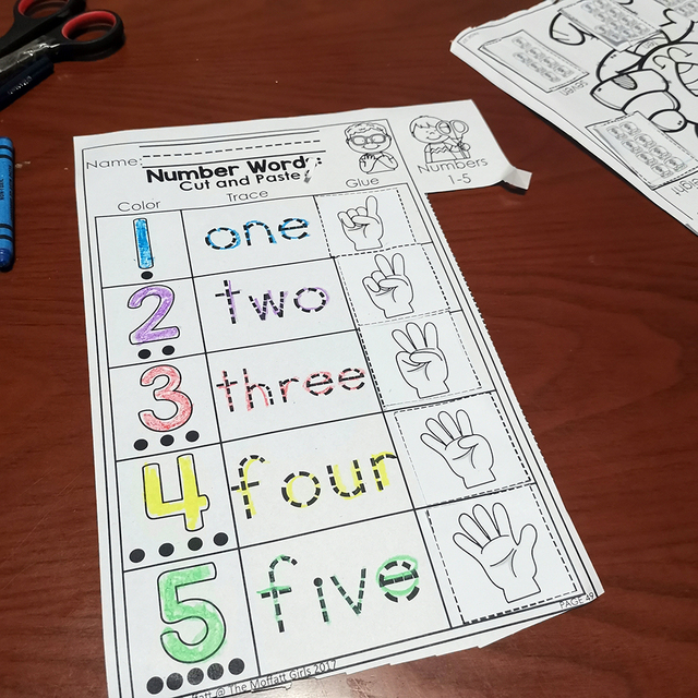Kindergarten Math Numbers 1-10 Homework Paper English Learning Material Practice Reading Book Kids Montessori Child Workbook 5