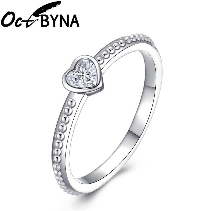 Модное Сверкающее циркониевое серебряное кольцо для женщин, цветочное сердце, корона, кольца на палец, фирменное кольцо, ювелирное изделие, Прямая поставка - Цвет основного камня: 28