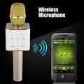 Магия Караоке Микрофон К Песню Мини Портативный Беспроводной Bluetooth Микрофон Q7 Pro + Микрофон Динамик Bluetooth Открытый КТВ Для iphone
