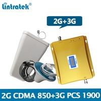 Lintratek Dual Band Signal Repeater 2G 3G 850/1900 Signal Booster CDMA 850 PCS 1900 Repeater 3G 2G Full Set Amplifier #8