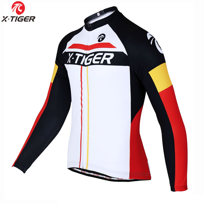 X-Tiger 2017 Pro Long Sleeve Winter Thermal Fleece Cycling Jersey MTB Bicycle Clothing Maillot Ropa Ciclismo Invierno Bike Wear