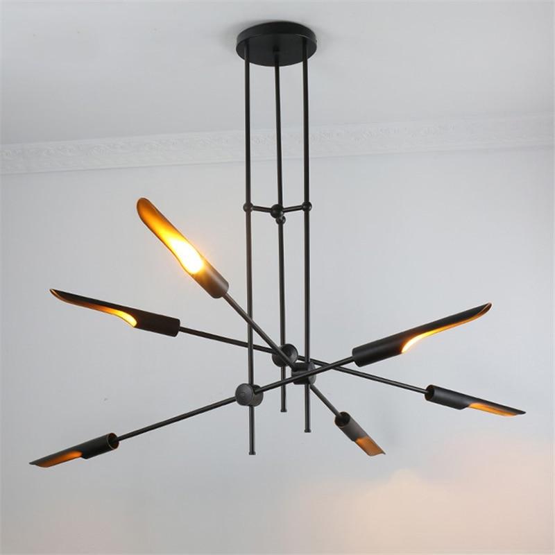 Lustre créatif scandinave éclairage Restaurant café lustre industriel Youlaike décor moderne salon lampes suspendues
