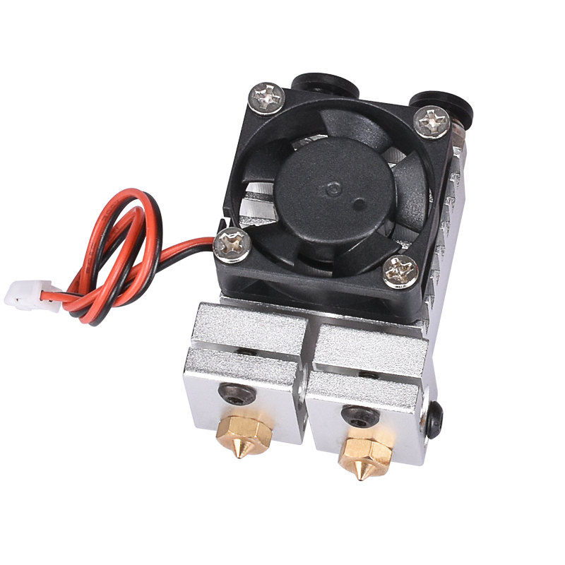 BIQU All metal for 3D Chimera Hotend Kit Dual Color Extruder Multi extrusion V6 Dual Extruder