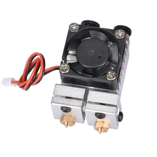 BIQU All metal for 3D Chimera Hotend Kit Dual Color Extruder Multi-extrusion V6 Dual Extruder 0.4mm/1.75mm 3D printer part