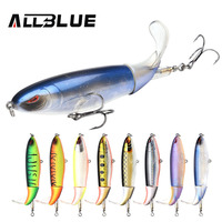 ALLBLUE New Whopper Popper Topwater Fishing Lure 38g 13cm Artificial Bait Hard Fishing Plopper Soft Rotating
