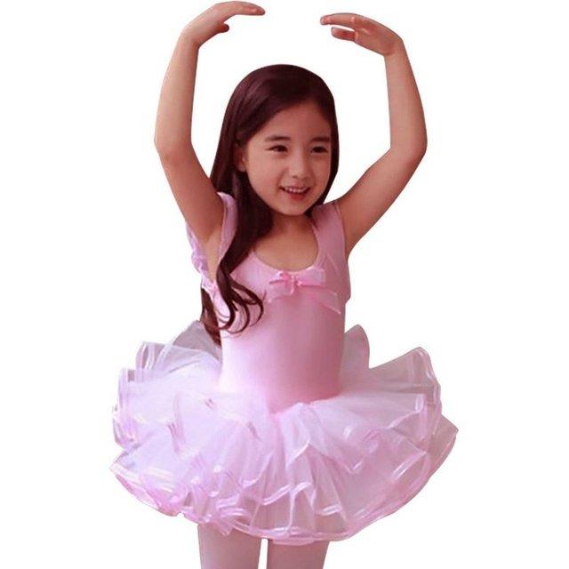 2017 Encaje Ballet danza para Niñas fiesta Ballet Tutu vestido niños ...