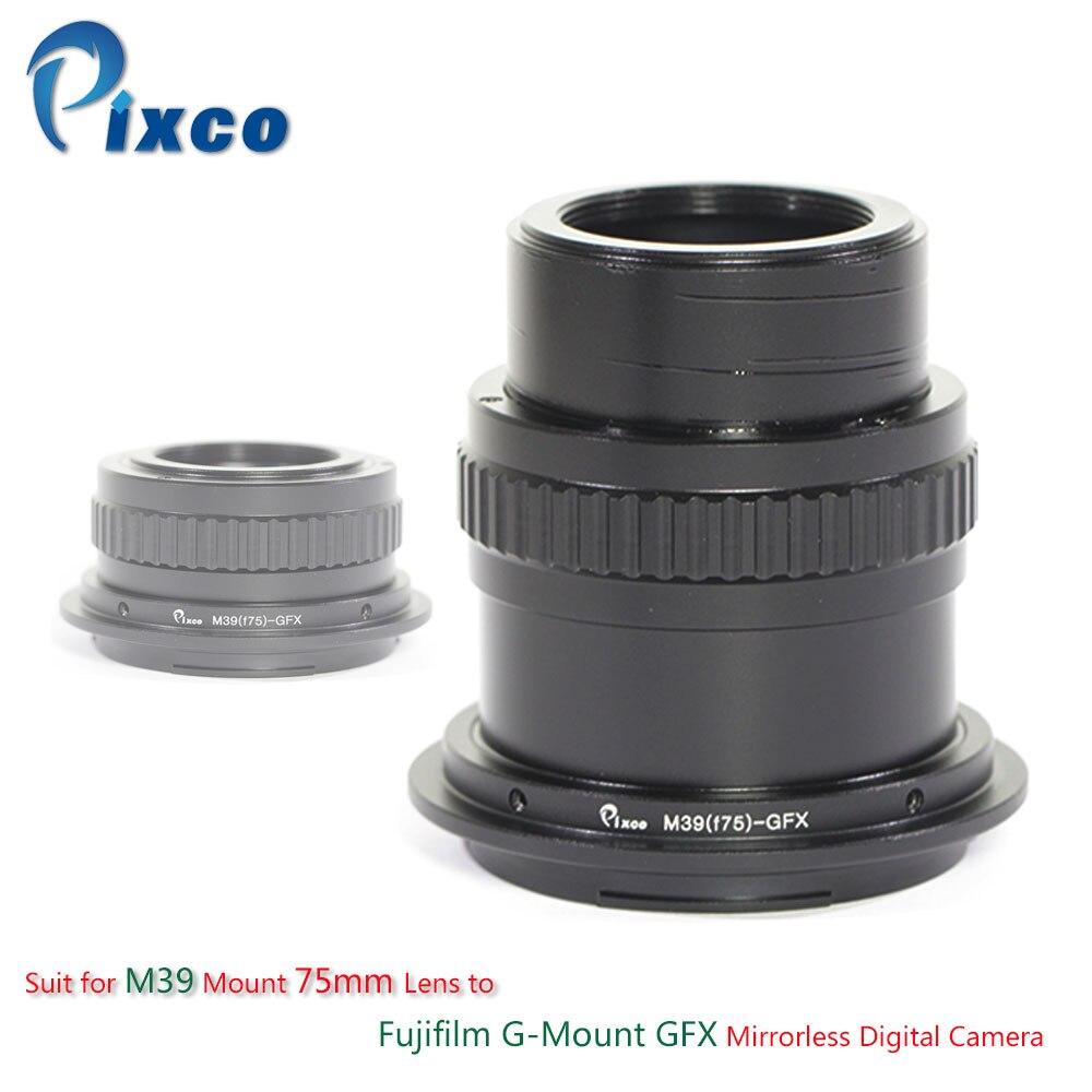 Pixco Lens Adapter Suit for M39 Mount 75mm Lens to Fujifilm G-Mount GFX Mirrorless Digital Camera все цены