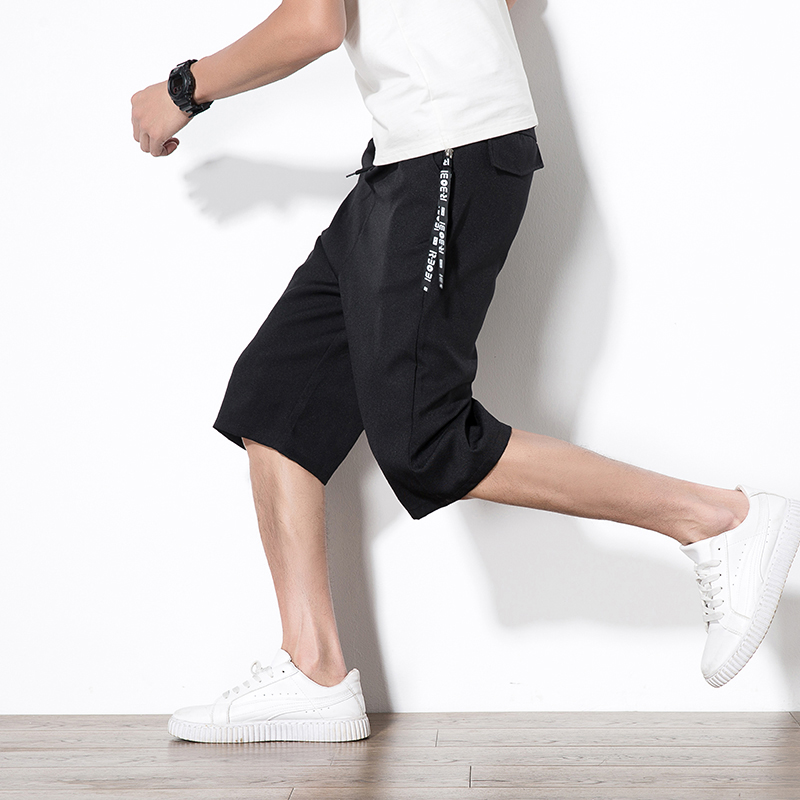 Men's Clothing Mens Korean Loose Loose Leg Pantswaterproof Solid Elastic Waist Beach Shorts Cotton Casual Male Shorts Homme Cotton Men Shorts A Wide Selection Of Colours And Designs