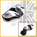 (1) черный Белый Юнион Джек Флаг ВЕЛИКОБРИТАНИИ Стиль Натуральная Кожа Брелок Крышка держатель Для 2008-до MINI Cooper R55 R56 R57 R58 R59 R60 R61