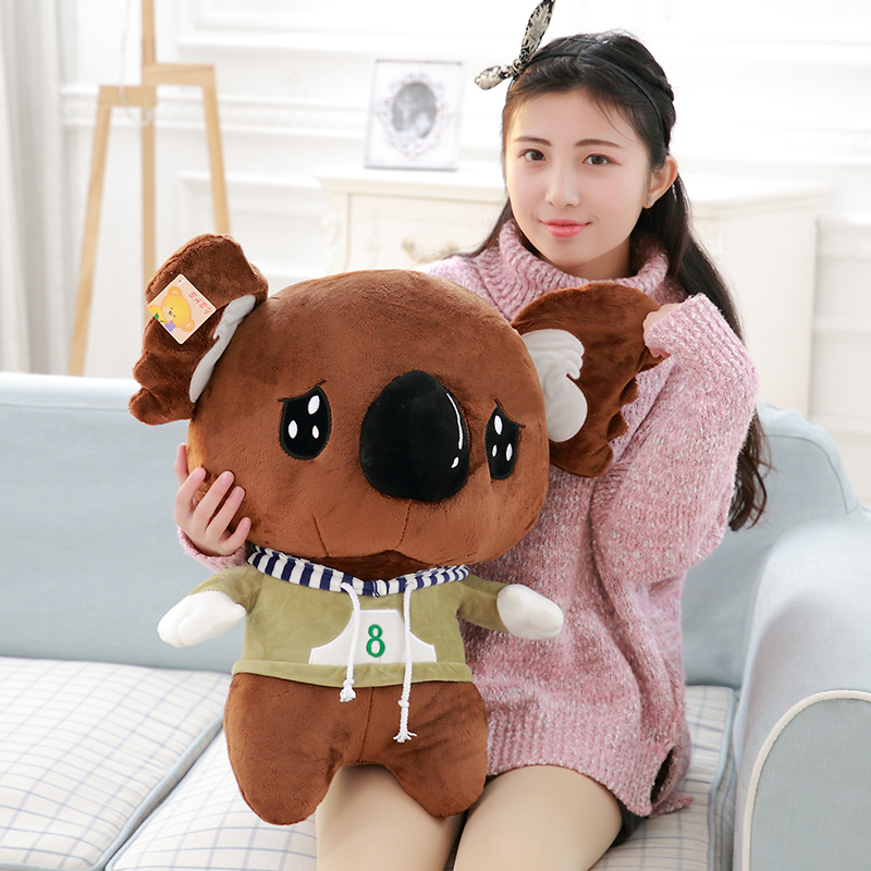 55cm New Lovely Cartoon Koala Plush Toys Kawaii Cute Koala Stuffed Doll Soft Big Head Koala Toy Birthday Gift for Kids fancytrader new pop animal koala plush toy big stuffed plush koala doll 50cm best gift for children