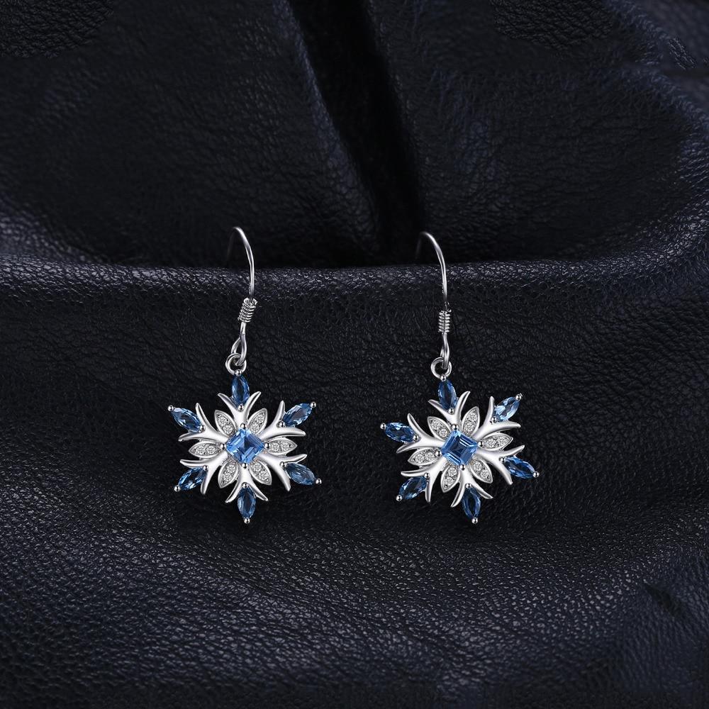 SmykkerPalace Snefnug 1.4ct Ægte schweiziske blå Topaz dangle - Smykker - Foto 2