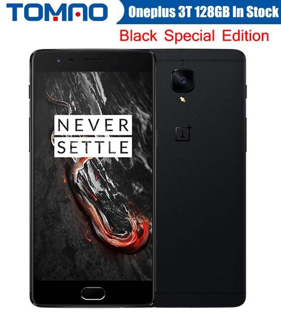 "Oneplus 3 T A3010 LTE 4 Г Мобильный Телефон Snapdragon 821 5.5 ""Android 6.0 6 Г ОЗУ 64/128 Г ROM 16MP NFC Отпечатков Пальцев Черный Версия Складе"