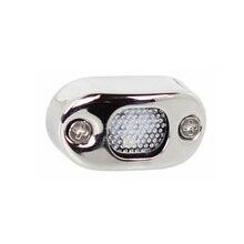 Lampe blanche/bleue chaude en acier inoxydable lampe de marche LED pour Yacht de bateau, 12V