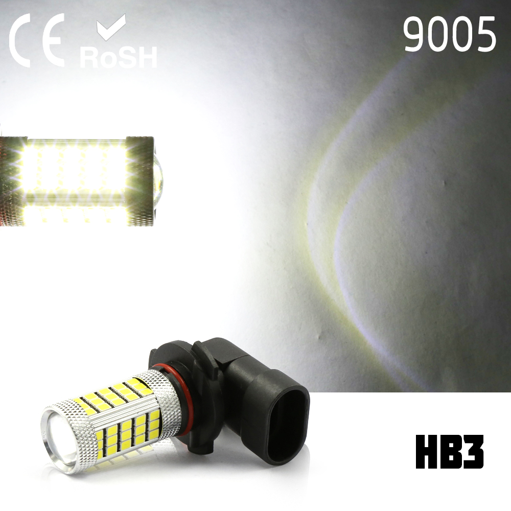 9005 HB3 High Power 2835 LED 63 smd Projector Fog Driving DRL Lights white