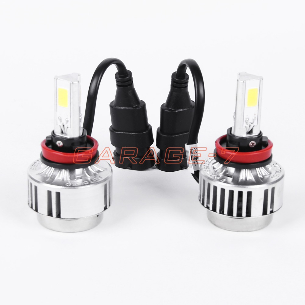 ФОТО One pair of high-quality 36W 3000LM Car LED Headlamp H9 Car Headlamp 3PCS 6000k LED Head Light headlamp 12v 24v