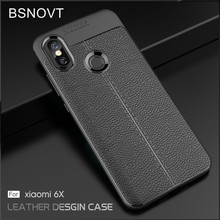 For Cover Xiaomi Mi A2 Case Shockproof Anti-knock Leather TPU Cover For Xiaomi Mi 6X Case For Xiaomi Mi A2 / Mi 6X Funda BSNOVT защитное стекло xiaomi mi 6x mi a2 черный