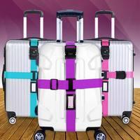 Багажный ремень поперечный ремень упаковка Регулируемый Дорожный чемодан нейлон 3 цифры Пароль замок Пряжка ремень багажные ремни WML