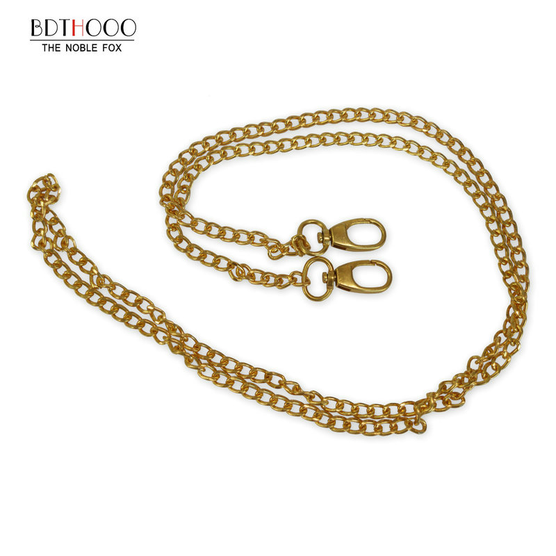 10PCS 120cm Replacement Metal Chain For Shoulder Bags Handbag Buckle Light Gold Handle DIY Strap Accessories for Bag Hardware