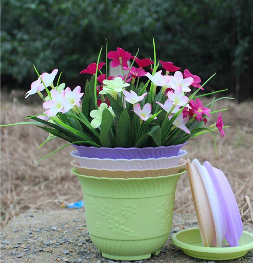 Wholesale Large Round Style Flower Pots Decorative Flower
