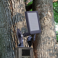 Solar Panel Charger for Hunting Camera HC300 HC300M HC500A HC500M HC500G HC700g Built in 1500mAH Lithium Battery