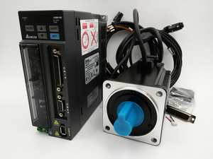Original Delta 750W AC Servo Motor Drive Kit 0.75KW Servo System ECMA-C20807RS+ASD-B2-0721-B 3000rpm 80mm with 3m Cable New
