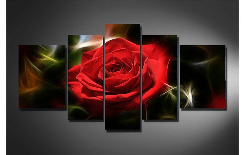 surprise new red rose hand flower multi 5 pieces of cross stitch 5d diy diamond painting