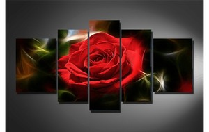 surprise! new red rose hand flower multi 5 pieces of cross stitch 5d diy diamond painting mosaic for living room weeding gifts