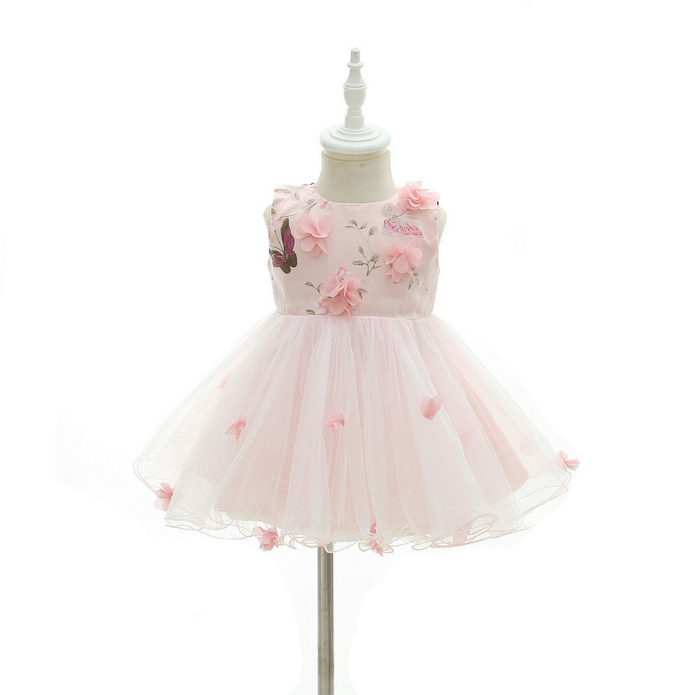 a0fdb9992f512 HAPPYPLUS White/Pink Flower Infant Dress Princess Baby Christening Dress  Baptism 1st Birthday Wedding Dresses Baby Girl Easter