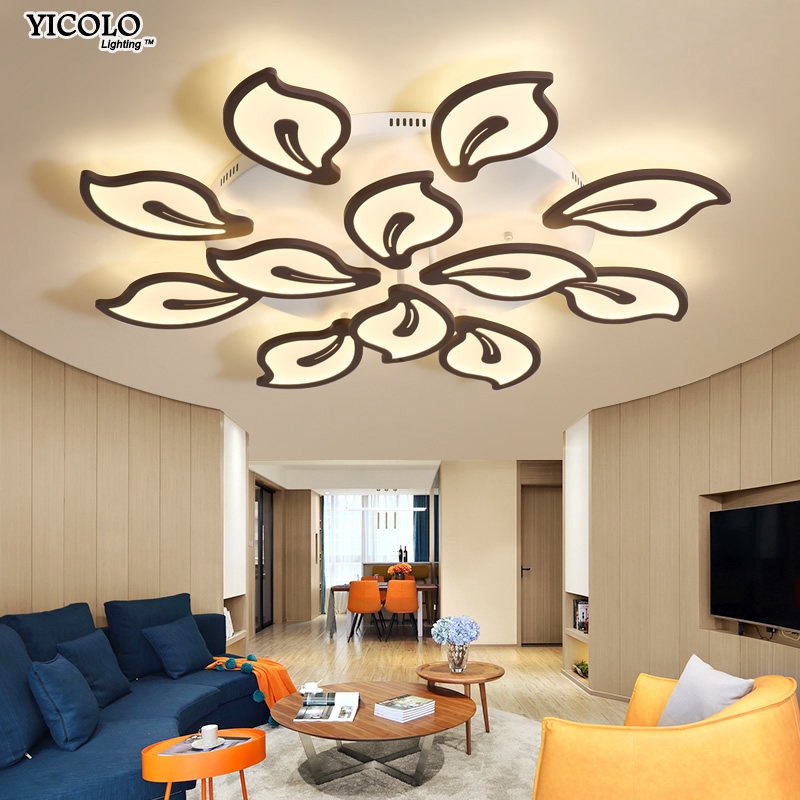 Ceiling Lights Ceiling Lights & Fans White Frame Modern Led Ceiling Lights For Living Room Bedroom Plafond Led Home Lighting Ceiling Lamp Home Lighting Fixtures Dero