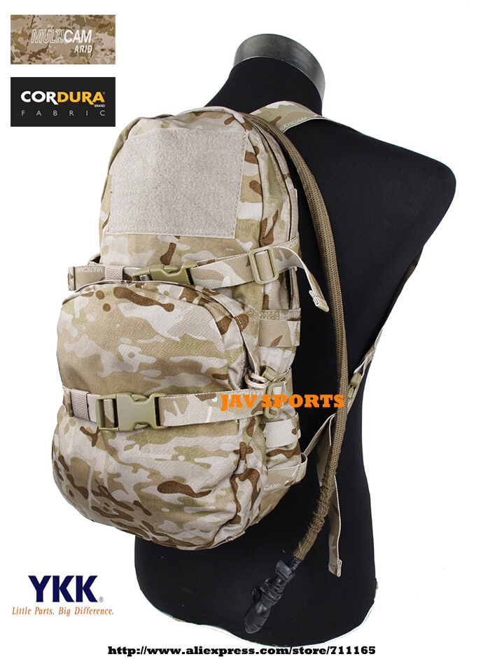 TMC Modular Assault Pack W/ 3L Water Bladder MOLLE Hydration Backpack Multicam Arid Bag+Free shipping(SKU12050784) emersongear lbt2649b hydration carrier for 1961ar molle backpack military tactical bags hunting bag multicam tropic arid black
