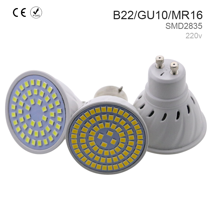 Ampoule GU10 Led Lamp 220V Luminaria Led Light Chandelier 2835 SMD 8W Bombillas Led GU 10 Ceiling Lighting Fixture Led Lampada
