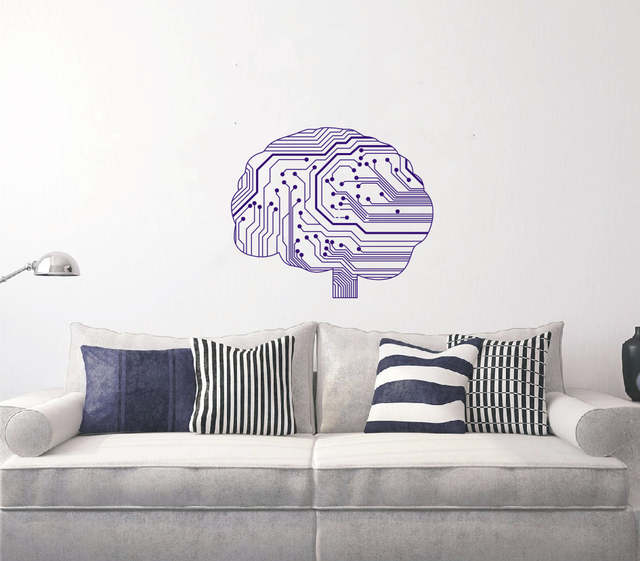online shop special wall sticker neurelectric human brain circuit