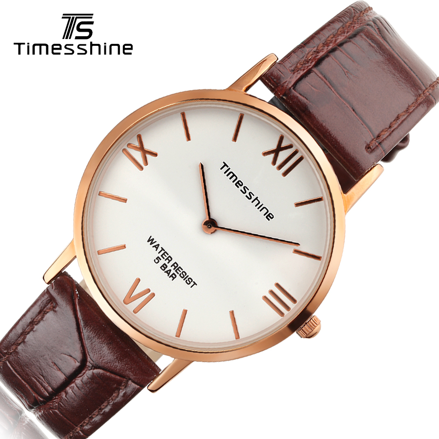 Timesshine leather women Fashion female quartz watches silver gold wristwatch Fashion 5ATM water female  women Ladies Watch timesshine women watch quartz watch