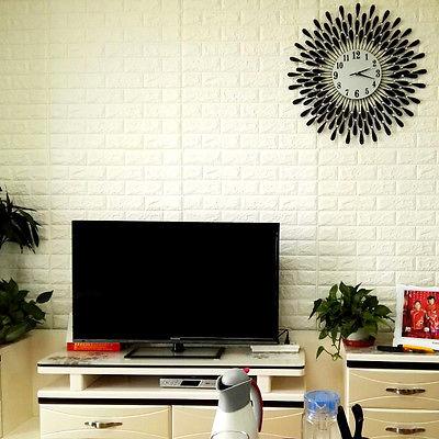 60x60cm Brick Pattern 3d Textured Pe Foam Wallpaper Wall