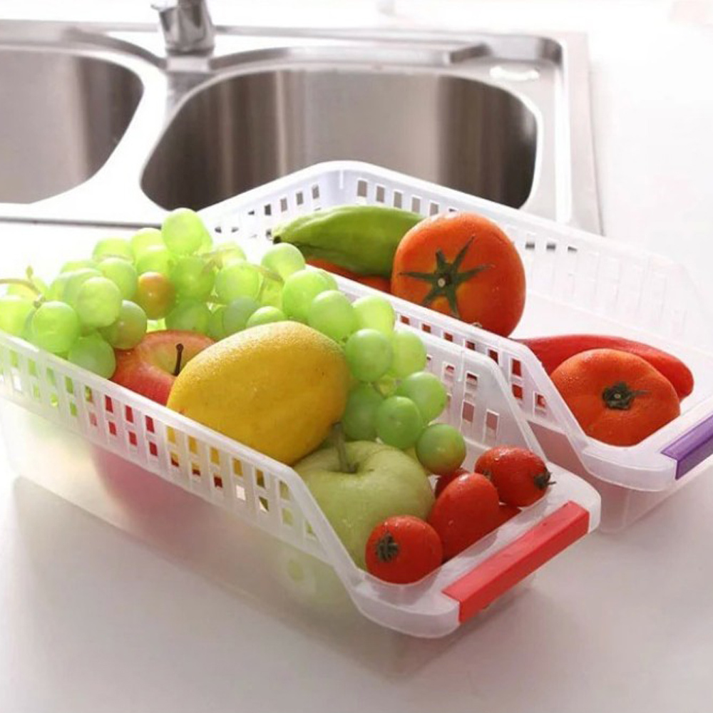 Ieasycan Fridge And Freezer Storage Bin , Kitchen Tray With Handle 12 Inch  By 5 Inch By 4 Inch, Clear In Storage Boxes U0026 Bins From Home U0026 Garden On ...