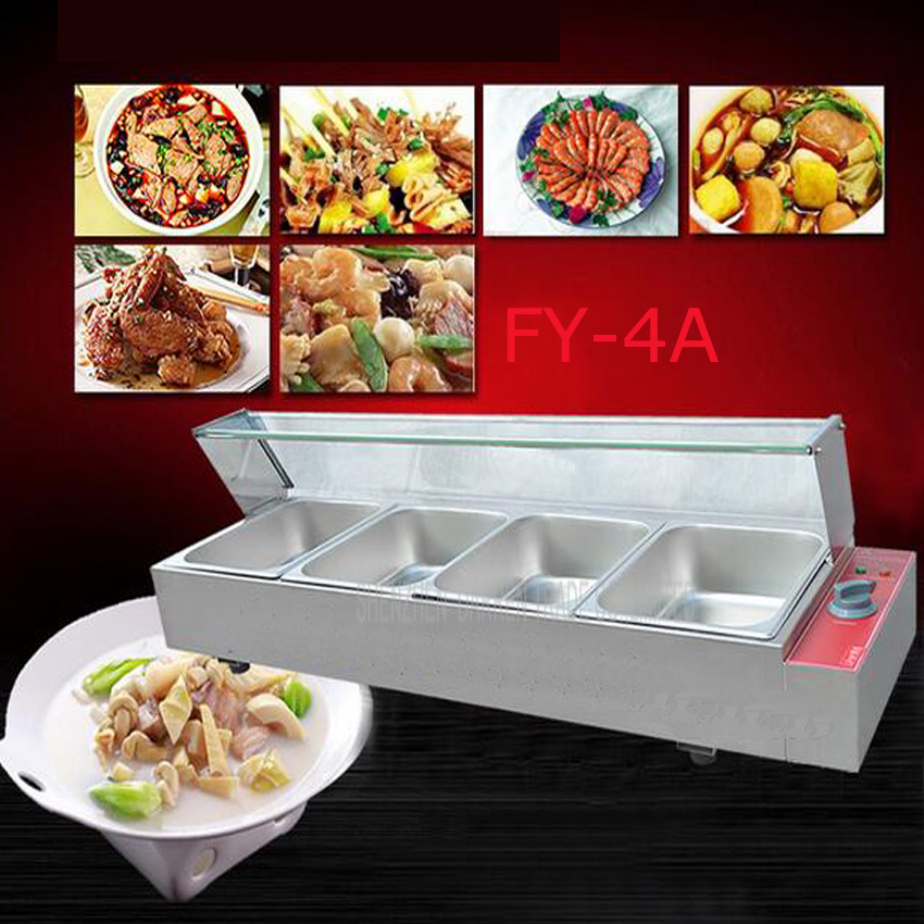 1PC FY-4A Commercial electric food processor and even cooking stoves of Food preservation machine quipment with 4 pots 1 pc 220v fy 2v b commercial electric stainless steel bain marie machine with 2 pots hot food tangchi