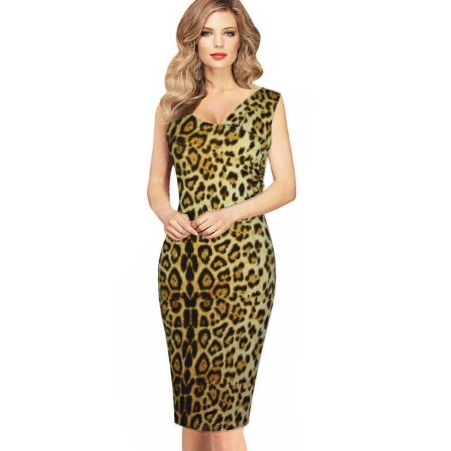 Leopardenmuster Kleid Frauen 2016 Sommer Neuheiten Fashion Elegante ...