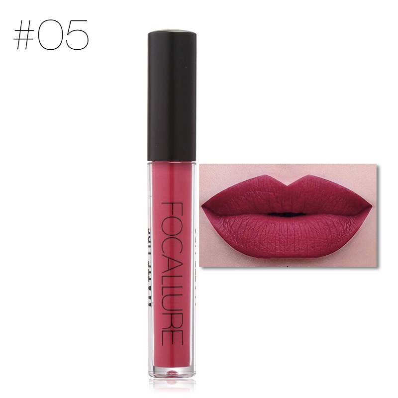 FOCALLURE Easy to Wear Matte Liquid Lipstick Hot Sexy Colors Lip Paint Matte Lipstick Waterproof Long Lasting Lip Gloss Lip