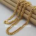 Fine Jewellry New Arrivals 2016 Fashion Jewelry 6.5MM Width Chain Necklace Real Gold 24K Plated Men Necklaces NEC1538