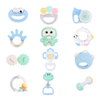 Baby Teether Rattle Toysl Colorful Handbell Rattlel Ball Development Educational Baby Toys