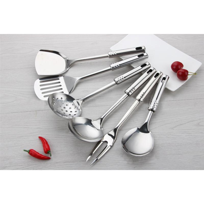 US $20.29 42% OFF|ROSENICE 7pcs Kitchen Tool Set Stainless Steel Cooking  Utensil Set Spoon Utensils Kitchen Tools Upscale Kitchenware-in Cooking  Tool ...