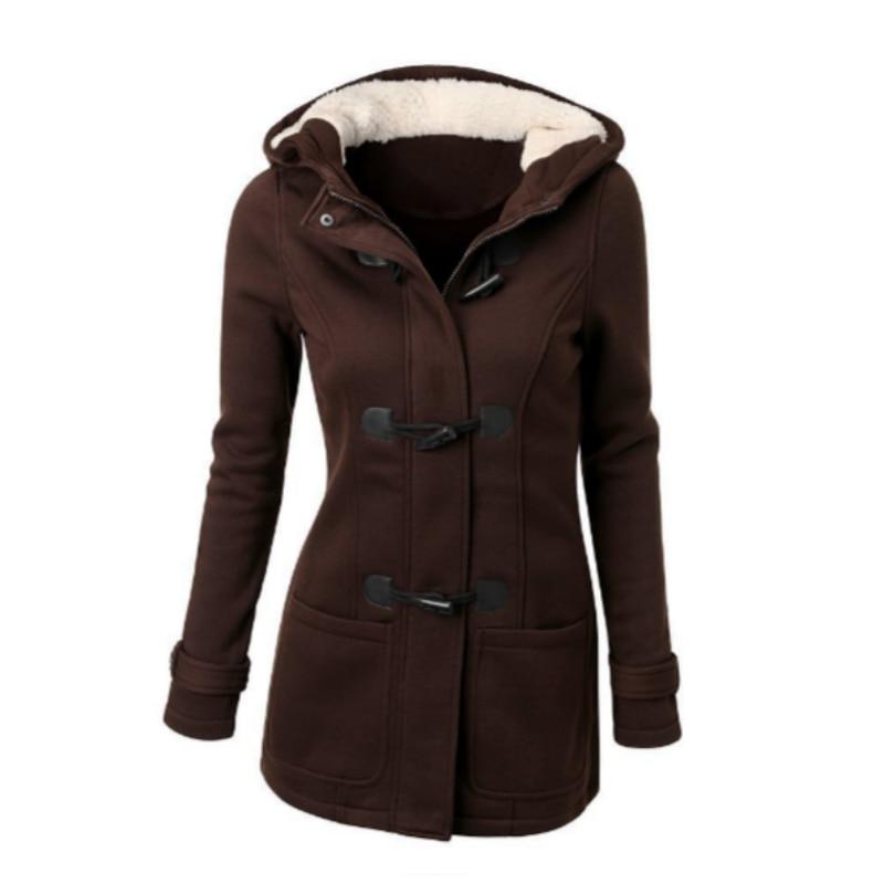 Women Basic Jackets 2018 Brown Causal Coat Autumn Women's Overcoat Zipper Outwear Jacket Female Hooded Coat Casaco Feminino 5XL