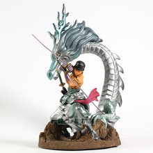 One Piece Roronoa Zoro com Plataforma Dragon Estátua PVC Figura Collectible Toy Modelo(China)
