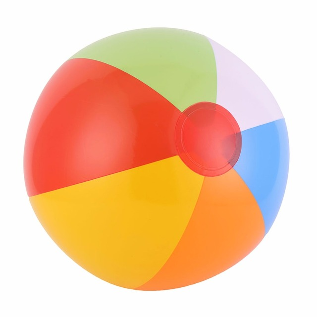 Ccinee 40cm Colorful Inflatable Beach Rubber Children Toy Ball For Kids Outdoor Sport