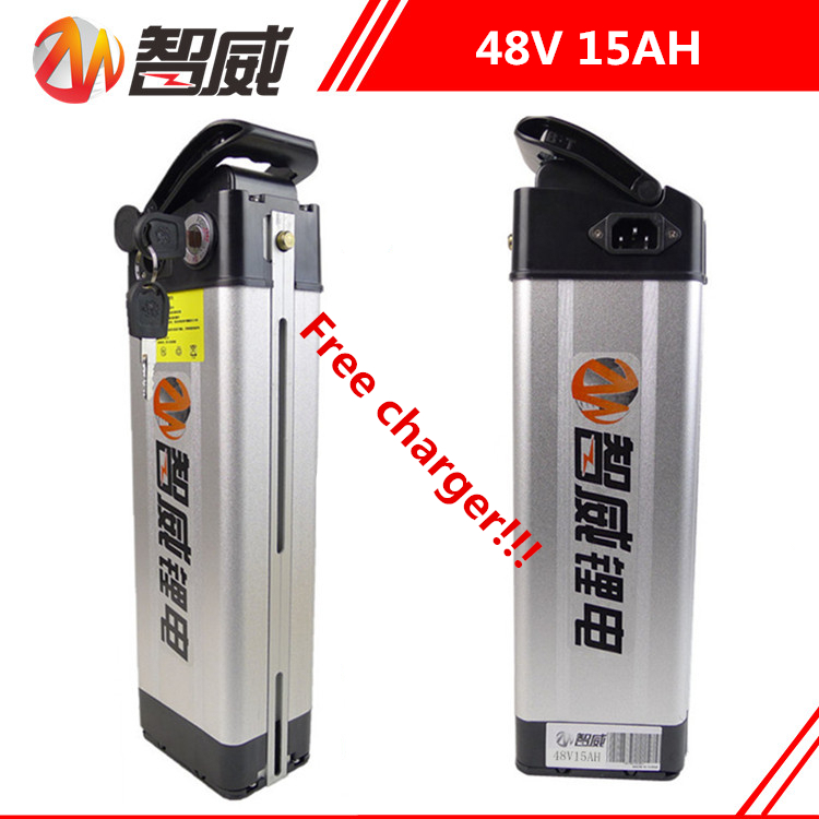 Factory outlet 48V 15AH Lithium li-ion Rechargeable battery for electric bikes (60KM) & all devices Power Bank (FREE charger) free customs taxes super power 1000w 48v li ion battery pack with 30a bms 48v 15ah lithium battery pack for panasonic cell
