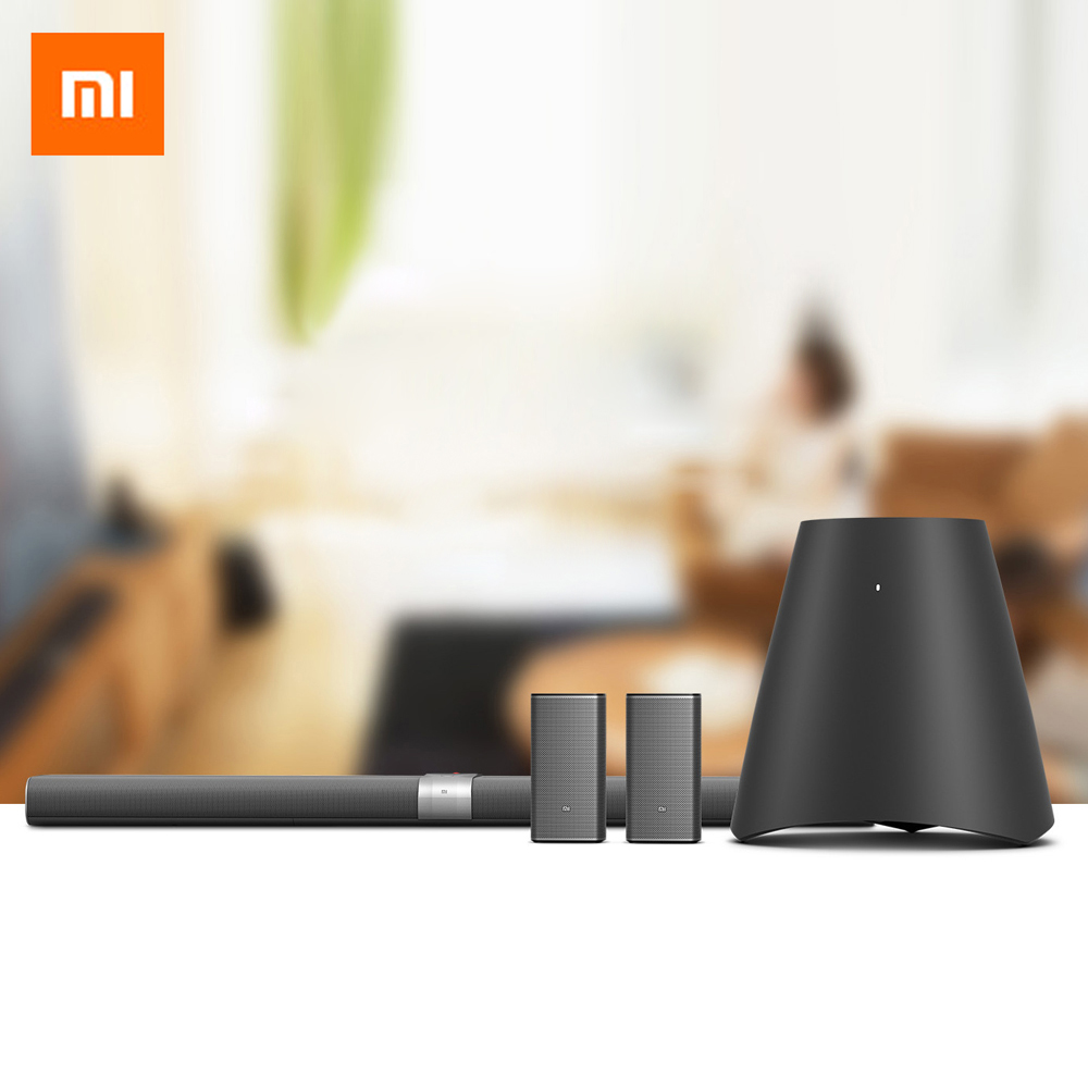 Original Xiaomi Mi Home Theater TV altavoz inalámbrico Soundbar Bluetooth Subwoofer estéreo caja de sonido con sistema AI inteligente