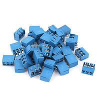 38Pcs 3Way 3Pin PCB Screw Terminal Block Connector 5mm Pitch For 14 22AWG Wire